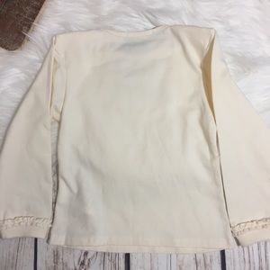 Burberry Shirts & Tops - Burberry Ivory Long Sleeve Top Check Logo NWT